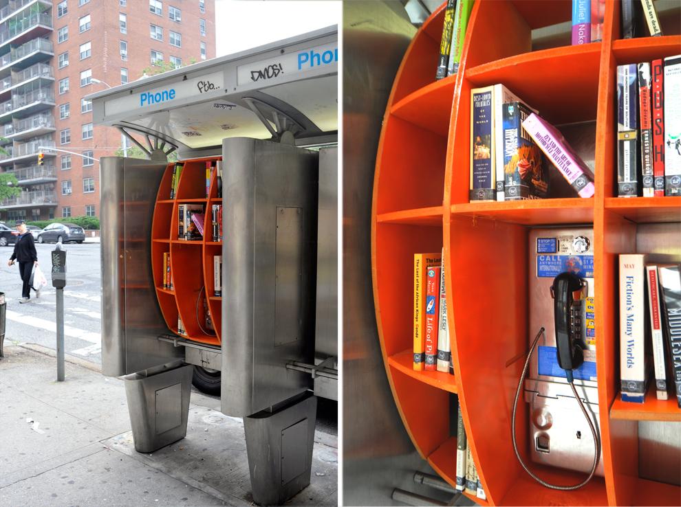 Cabina telefonica libreria (foto, greenme.it)