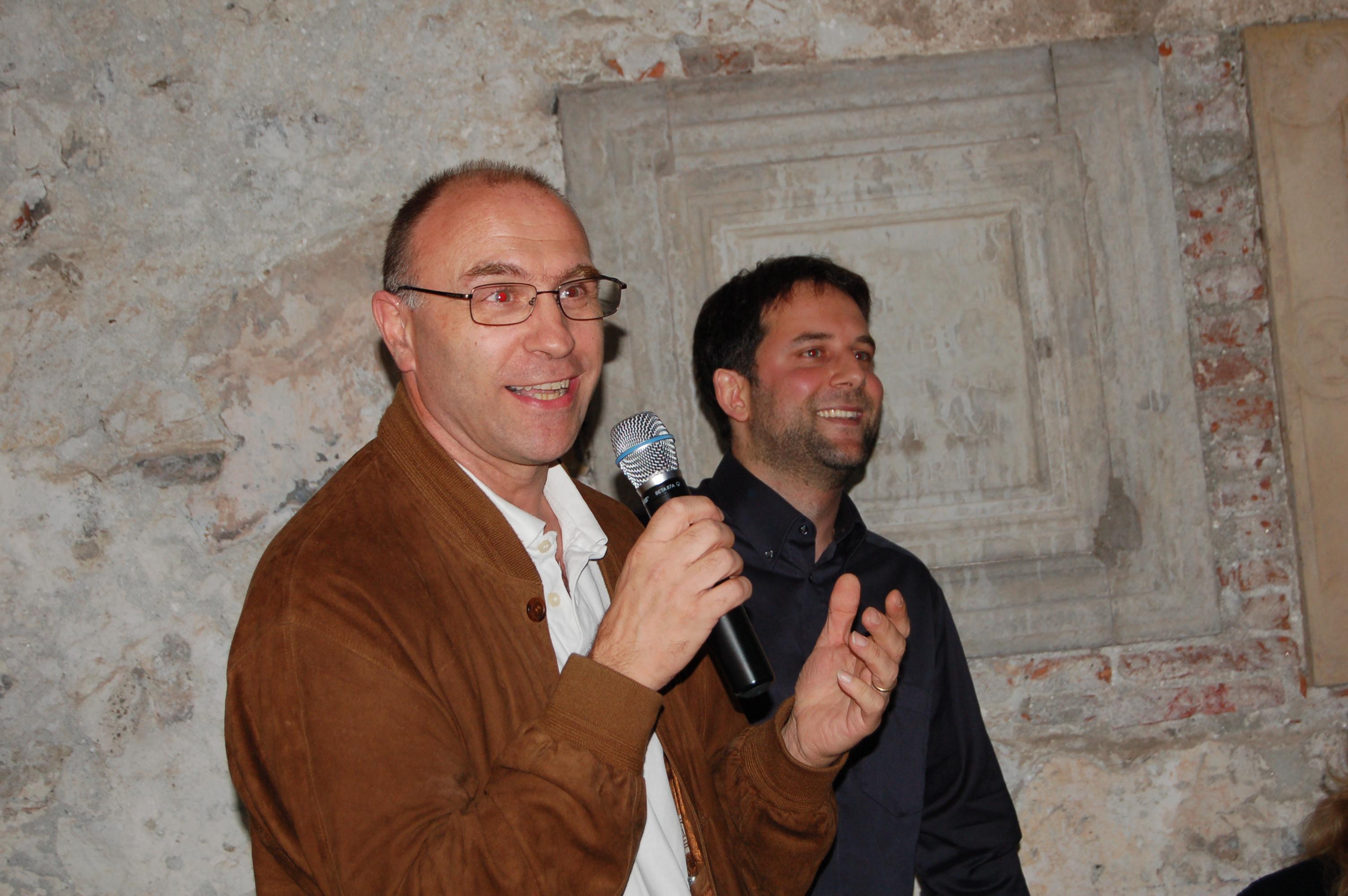 Il vincitore Alberto Moccetti con Andrea Fazioli