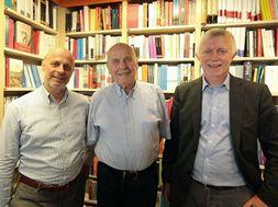 Da sinistra Alberto Galla presidente del nuovo gruppo, Mariano Galla ed Edoardo Scioscia di Libraccio