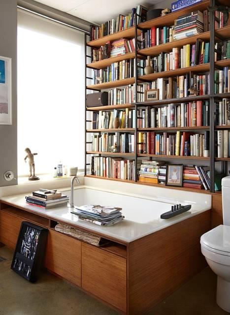 Libri in bagno (foto tratta da zingarate.com)