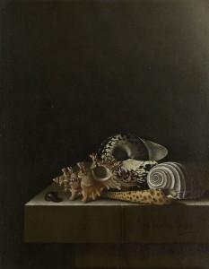 Adriaen_Coorte_-_Schelpen_op_een_stenen_plint_SK-C-1761
